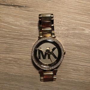 Gold Michael Kors Parker watch